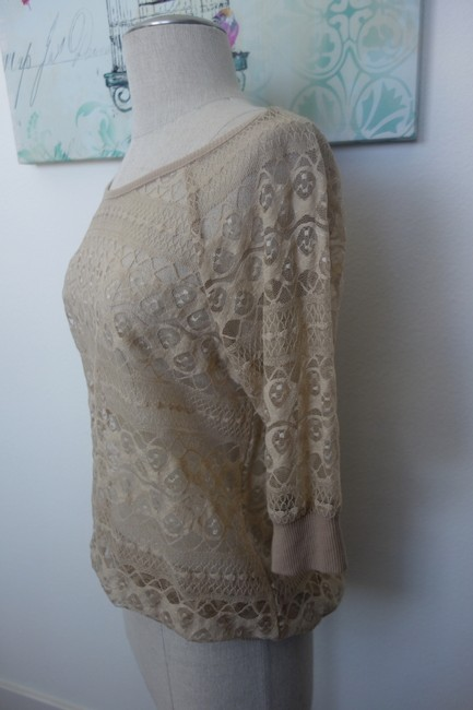 Love on a Hanger Lace Beige Earth Tones Sexy Top Tan
