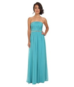 Donna Morgan Blue Green Emily Dress