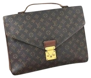 Louis Vuitton Attache Vuiton Luggage brown/black Travel Bag