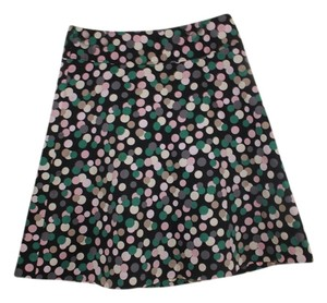 H&M A-line Polka Dot Colorful Skirt Black Multi