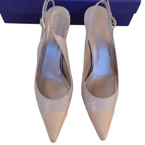 Stuart Weitzman Pointed Toe Slingback Ecru Neutral New Nude Pumps