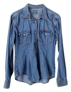Big Star Denim Button Down Shirt Blue