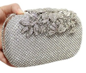 Diamond Flower Evening Bags Clutch Purse