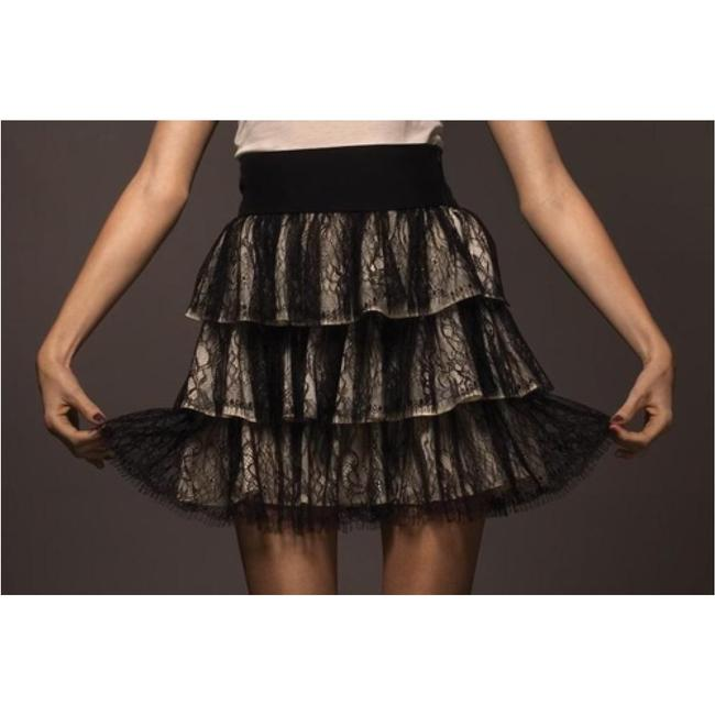 Tt Collection Mini Skirt Black/Beige
