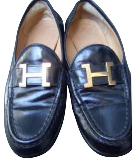 Preload https://item1.tradesy.com/images/hermes-black-loafers-355-flats-size-us-5-838030-0-3.jpg?width=440&height=440