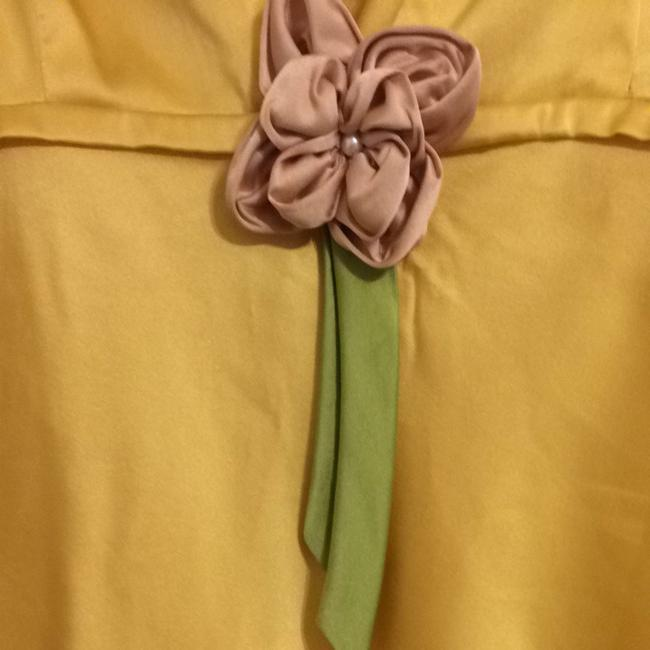 Anthropologie Office Business Casual Top Yellow/Rose
