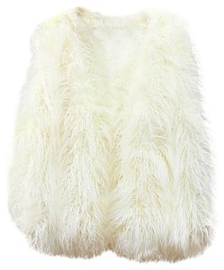 White Fur Faux Fur Vest