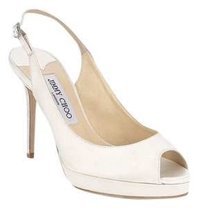 Jimmy Choo Slingback Peep Toe Wedding Ivory Pumps
