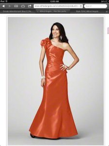 Alfred Angelo Orange 7216 Formal Bridesmaid/Mob Dress Size 10 (M)