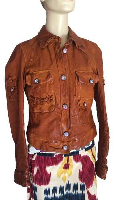 Preload https://img-static.tradesy.com/item/8382241/orange-thick-genuine-leather-jacket-size-6-s-0-2-650-650.jpg