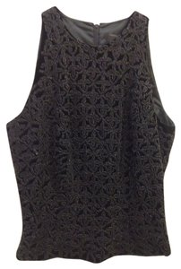Carmen Marc Valvo Dressy Beaded Size 2 Evening Top Black