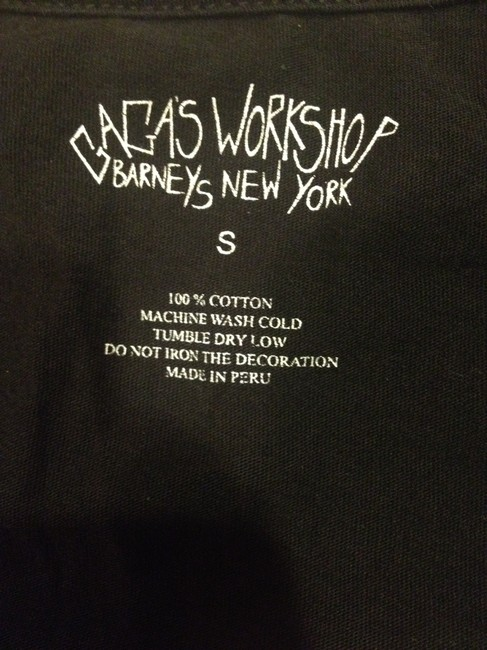 Barneys New York Lady Gaga Gaga's Workshop Workshop Small Soft Womens T Shirt Black