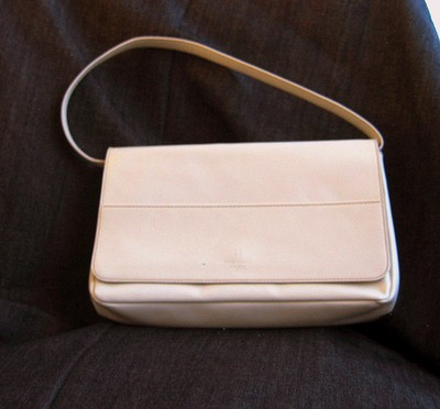 Kate Spade Spring 2003 Prague Patent Convertible Ivory Clutch