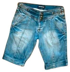 NOVANTASEI Knee Length Size 40 Size 2 P64 Cuffed Shorts DENIM