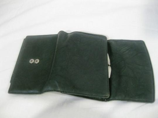 Other Classic Black Solid Leather Wallet with Snap Closure Coin Compartment