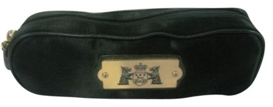 Juicy Couture Juicy Couture Cosmetic/Makeup Bag Black Nylon Gold Tone Details
