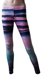 Other Hipster Cochella Nwot Tights Burningman Spring Fall Summer Boho Bohemian Pants Galaxy Stretchy 1990s 90s Spandex pink, turquoise, navy, white Leggings