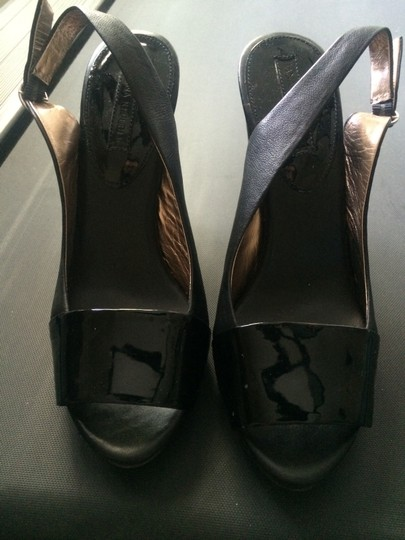 Banana Republic Heels Leather Slingback Black Pumps