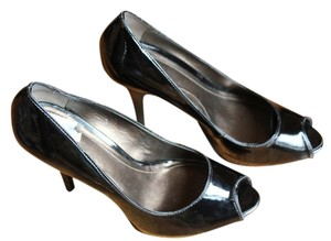Victor Alfaro Black Patent Leatehr Pumps