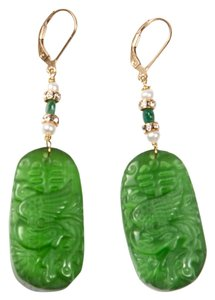 Carved Green Jade w/Pearl