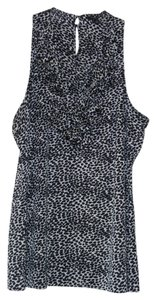 Ann Taylor Top Black and White Animal Print