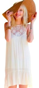 COCO & JAMESON short dress WHITE Halter Summer Gauze on Tradesy