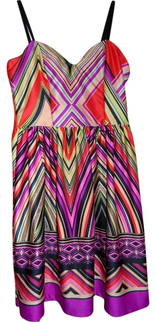 bailey blue short dress multi Babydoll Colorful on Tradesy