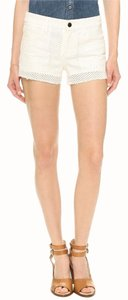 JOE'S Jeans Cutoff Eyelet Mini/Short Shorts WHITE