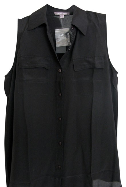 Preload https://img-static.tradesy.com/item/839097/tinley-road-black-sleeveless-silk-button-down-top-size-4-s-0-0-650-650.jpg