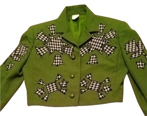 Marc Jacobs Olive/ Green/ Houndstooth Blazer