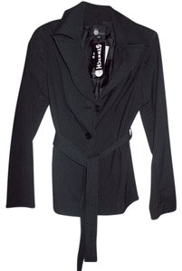 First Option Black Pinstripe Blazer