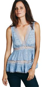 Free People Trapeze Cami Top BLUE