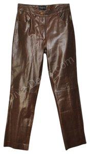 infinity Leather Dillards Boot Cut Pants Brown