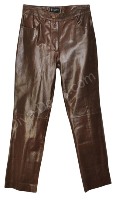 Preload https://img-static.tradesy.com/item/839304/brown-leather-boot-cut-pants-size-4-s-27-0-0-650-650.jpg