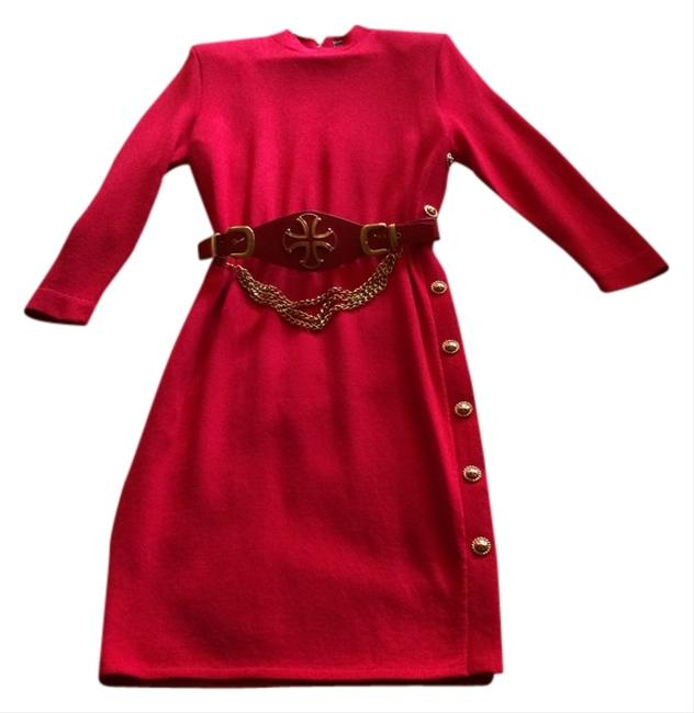 Preload https://img-static.tradesy.com/item/839320/st-john-red-mid-length-cocktail-dress-size-8-m-0-0-650-650.jpg
