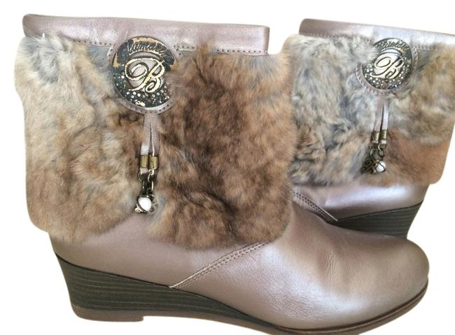 Item - Pearl Brown Leather Anckle with Fur Boots/Booties Size US 6.5 Regular (M, B)