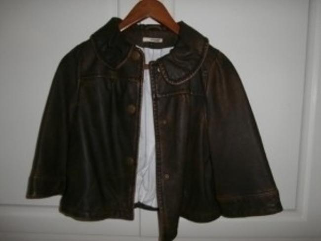 LAmade Distressed Brown Leather Jacket