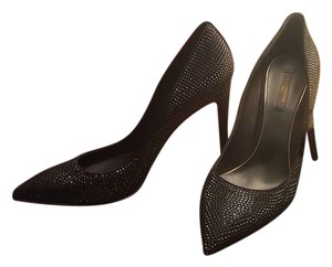 Louis Vuitton Crystal Limited Edition Noir Black Glitter Swarovski Runway Couture Pumps