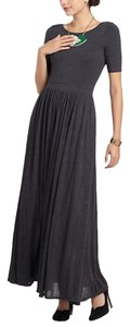 Grey Maxi Dress by Anthropologie Scoop Back Jersey