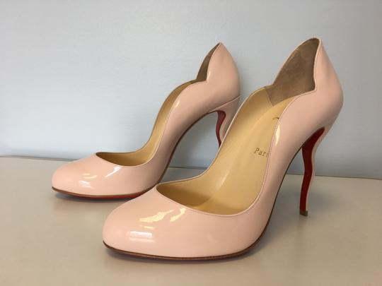 Christian Louboutin Stiletto Red Sole Patent Leather Wawy Nude Pumps Image 2