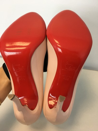 Christian Louboutin Stiletto Red Sole Patent Leather Wawy Nude Pumps Image 8
