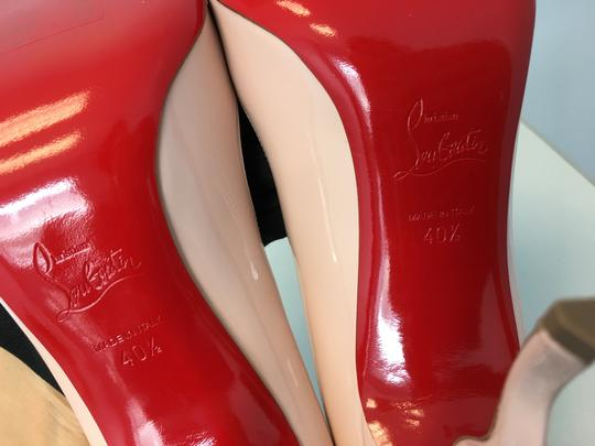 Christian Louboutin Stiletto Red Sole Patent Leather Wawy Nude Pumps Image 9