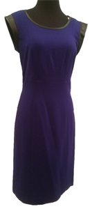 Ava & Aiden short dress Purple and Black Leather New Trim Tailored Waist Jersey Sale on Tradesy