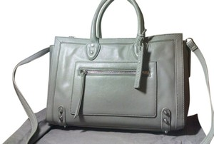 Linea Pelle Gray Satchel in Dove (gray)