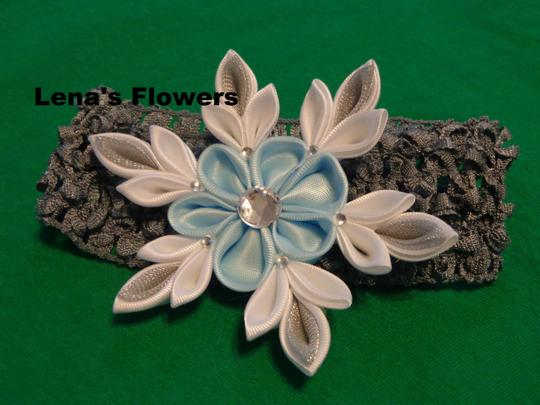 Other Snowflake Flower on elastic crochet. Winter Hair accessories. Image 1