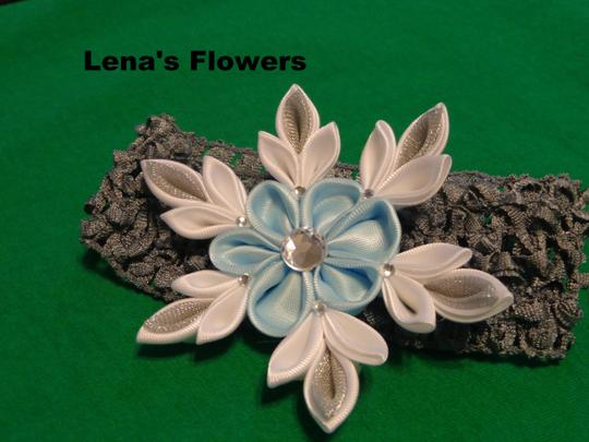 Other Snowflake Flower on elastic crochet. Winter Hair accessories. Image 2
