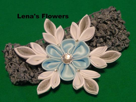 Other Snowflake Flower on elastic crochet. Winter Hair accessories. Image 3