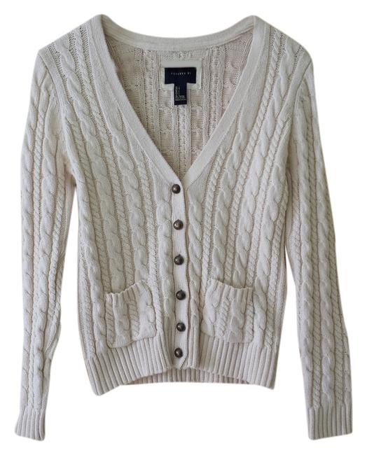 Forever 21 21 F21 Cream Cable Cardigan