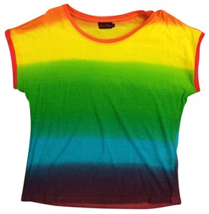 Motel Rocks Rainbow Light-weight T Shirt tie-dye