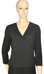 Laundry by Shelli Segal Evening Shirt Top Black